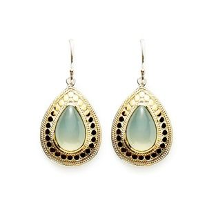 ✨Anna Beck Green Chalcedony Teardrop Earrings